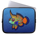 Cartoon Mandarin / Dragonet Fish Laptop Computer Sleeve