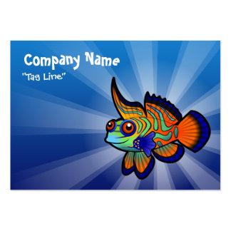 Cartoon Mandarin / Dragonet Fish Large Business Card