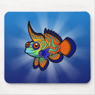 Cartoon Mandarin / Dragonet Fish Mouse Pad