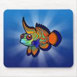 Cartoon Mandarin / Dragonet Fish Mousepads