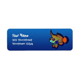 Cartoon Mandarin / Dragonet Fish Return Address Label