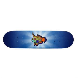 Cartoon Mandarin / Dragonet Fish Skateboard