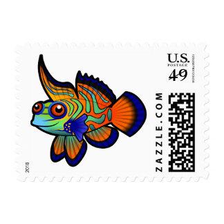 Cartoon Mandarin / Dragonet Fish Stamp