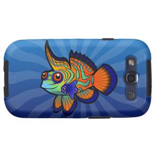 Cartoon-Mandarine/Dragonet Fische Samsung Galaxy S3 Protectores