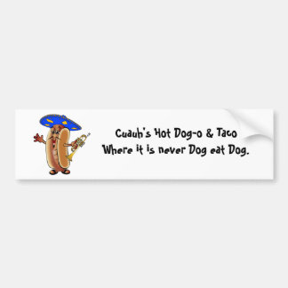 Cartoon Mariachi Hot Dog in a So Bumper Sticker