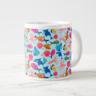 Cartoon Marine  Pattern for Childish Colorful Sea Giant Coffee Mug