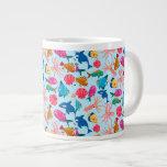 Cartoon Marine  Pattern for Childish Colorful Sea 20 Oz Large Ceramic Coffee Mug