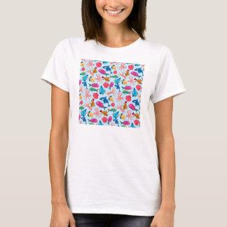 Cartoon Marine  Pattern for Childish Colorful Sea T-Shirt