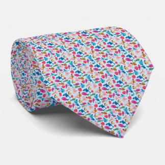 Cartoon Marine  Pattern for Childish Colorful Sea Tie