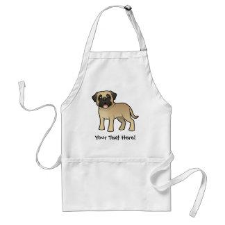 Cartoon Mastiff / Bullmastiff Adult Apron