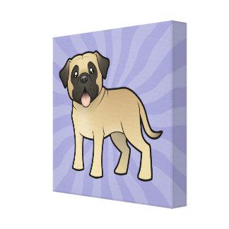 Cartoon Mastiff / Bullmastiff Canvas Print
