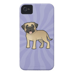 Case-Mate iPhone 4 Barely There Universal Case with Bullmastiff Phone Cases design
