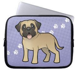 Neoprene Laptop Sleeve 10 inch with Bullmastiff Phone Cases design