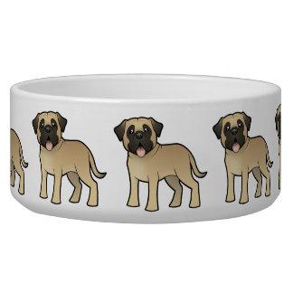 Cartoon Mastiff / Bullmastiff Pet Water Bowl