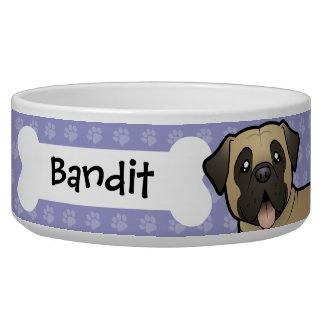 Cartoon Mastiff / Bullmastiff Pet Bowls