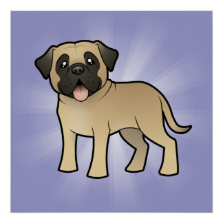Cartoon Mastiff / Bullmastiff Poster