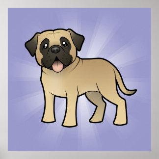 Cartoon Mastiff / Bullmastiff Print