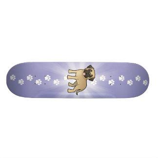 Cartoon Mastiff / Bullmastiff Skateboard Deck