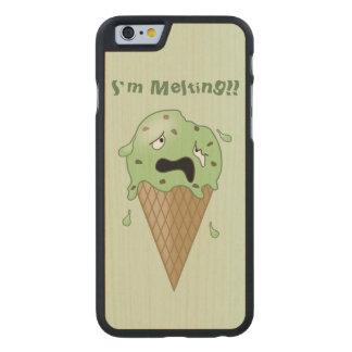 Cartoon Melting Ice Cream Cone (I'm Melting) Carved® Maple iPhone 6 Slim Case