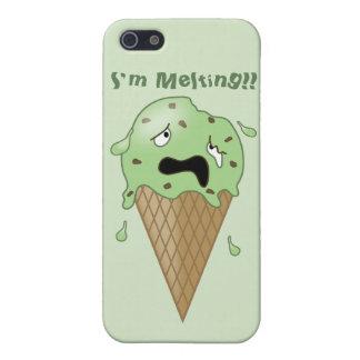Cartoon Melting Ice Cream Cone (I'm Melting) Cover For iPhone SE/5/5s