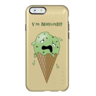 Cartoon Melting Ice Cream Cone (I'm Melting) Incipio Feather® Shine iPhone 6 Case
