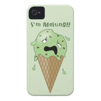 Cartoon Melting Ice Cream Cone (I'm Melting) iPhone 4 Cases