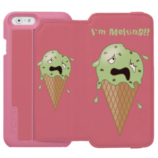 Cartoon Melting Ice Cream Cone (I'm Melting) iPhone 6/6s Wallet Case