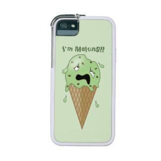 Cartoon Melting Ice Cream Cone (I'm Melting) iPhone SE/5/5s Cover