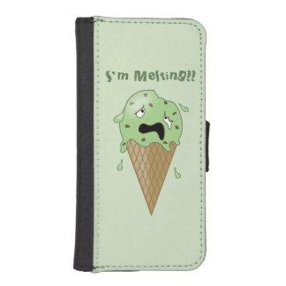 Cartoon Melting Ice Cream Cone (I'm Melting) iPhone SE/5/5s Wallet