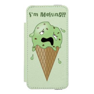 Cartoon Melting Ice Cream Cone (I'm Melting) iPhone SE/5/5s Wallet Case