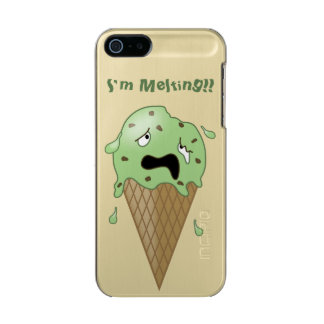 Cartoon Melting Ice Cream Cone (I'm Melting) Metallic iPhone SE/5/5s Case