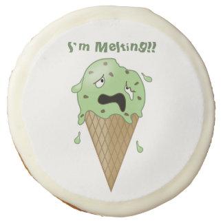 Cartoon Melting Ice Cream Cone (I'm Melting) Sugar Cookie