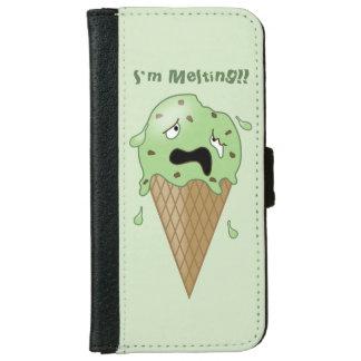 Cartoon Melting Ice Cream Cone (I'm Melting) Wallet Phone Case For iPhone 6/6s