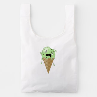 Cartoon Melting Ice Cream Cone Reusable Bag