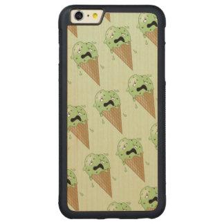 Cartoon Melting Ice Cream Cones Carved® Maple iPhone 6 Plus Bumper