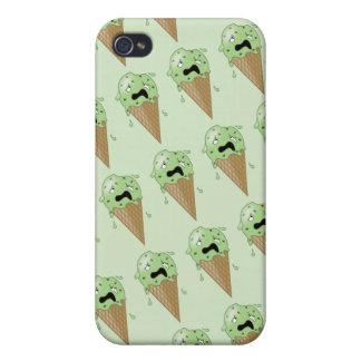 Cartoon Melting Ice Cream Cones Case For iPhone 4