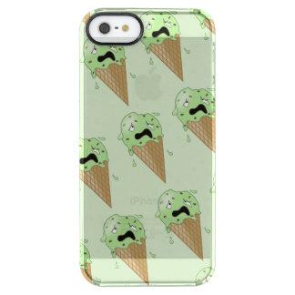 Cartoon Melting Ice Cream Cones Clear iPhone SE/5/5s Case