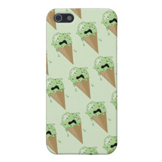 Cartoon Melting Ice Cream Cones Cover For iPhone SE/5/5s