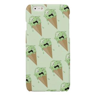 Cartoon Melting Ice Cream Cones Glossy iPhone 6 Case