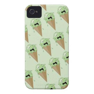 Cartoon Melting Ice Cream Cones iPhone 4 Cases