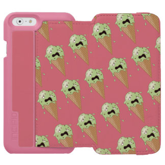 Cartoon Melting Ice Cream Cones iPhone 6/6s Wallet Case