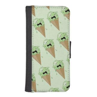 Cartoon Melting Ice Cream Cones iPhone SE/5/5s Wallet Case