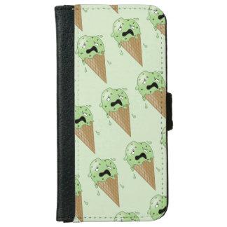 Cartoon Melting Ice Cream Cones Wallet Phone Case For iPhone 6/6s