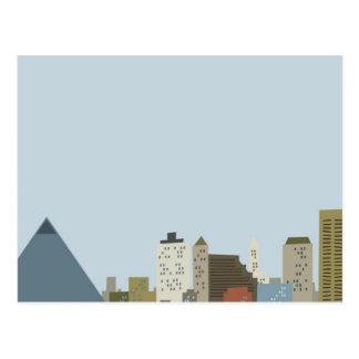 Cartoon Memphis Postcards