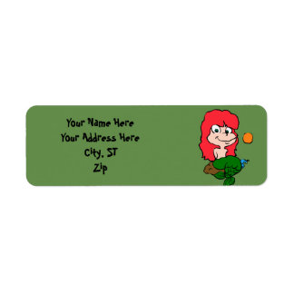 Cartoon Mermaid Label
