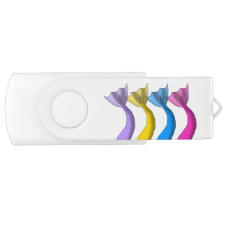 Cartoon Mermaid Tails 1 Swivel USB 2.0 Flash Drive