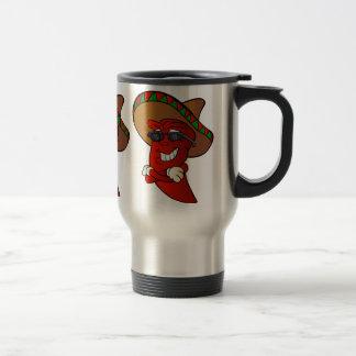 cartoon mexican pepper. travel mug