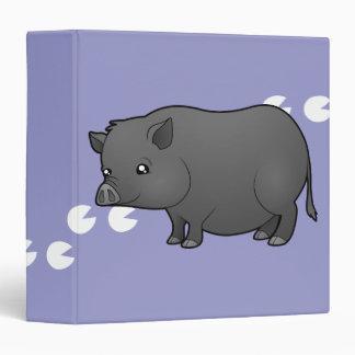 Cartoon Miniature Pig 3 Ring Binder