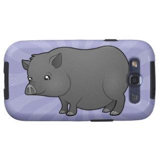 Cartoon Miniature Pig Galaxy SIII Case