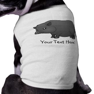 Cartoon Miniature Pig Doggie Tshirt